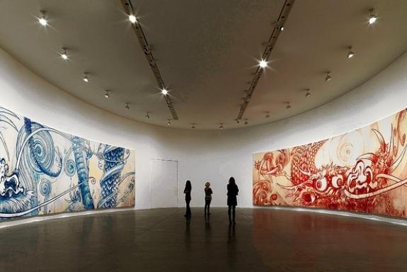 Takashi Murakami's installation at the Gagosian Gallery in Rome