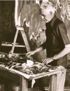 Clyfford Still in his studio, 1973?