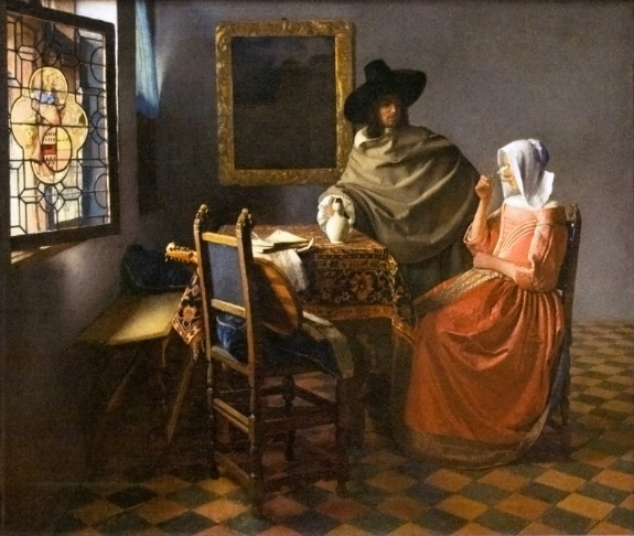 Johannes Vermeer's 'The Wine Glass.'