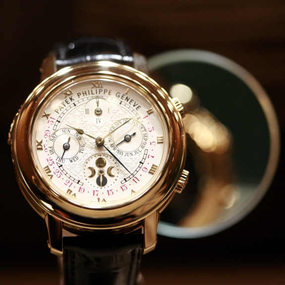 A Patek Philippe watch.