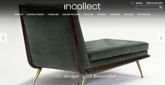 New Incollect homepage