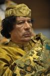 Muammar al Gaddafi.