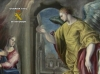 """Oil on canvas called """"The Annunciation"""" of 107 x 97cmt, 1570, the author Domenikos Theotokopoulos (El Greco)."""