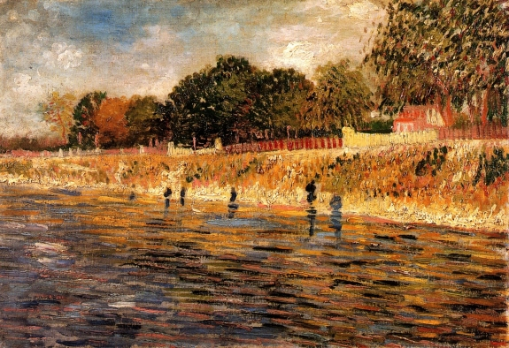Banks of the Seine, by Vincent Van Gogh