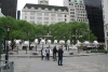 The unveiling of Chinese artist Ai Weiwei's Circle of Animals/Zodiac Heads outdoor installation at Central Park's Grand Army Plaza in New York City was postponed today due to a change in Mayor Michael Bloomberg's schedule after the death of Osama bin Laden.