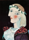 Marie-Thérèse avec une guirlande, 1937  Oil and pencil on canvas, 24 x 18 1/8 inches (61 x 46 cm) Private Collection © 2011 Estate of Pablo Picasso/Artists Rights Society (ARS), New York