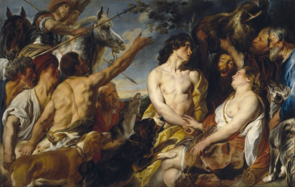A version of Jacob Jordaens' Mileager and Atalanta, on view at Madrid's Museo del Prado.