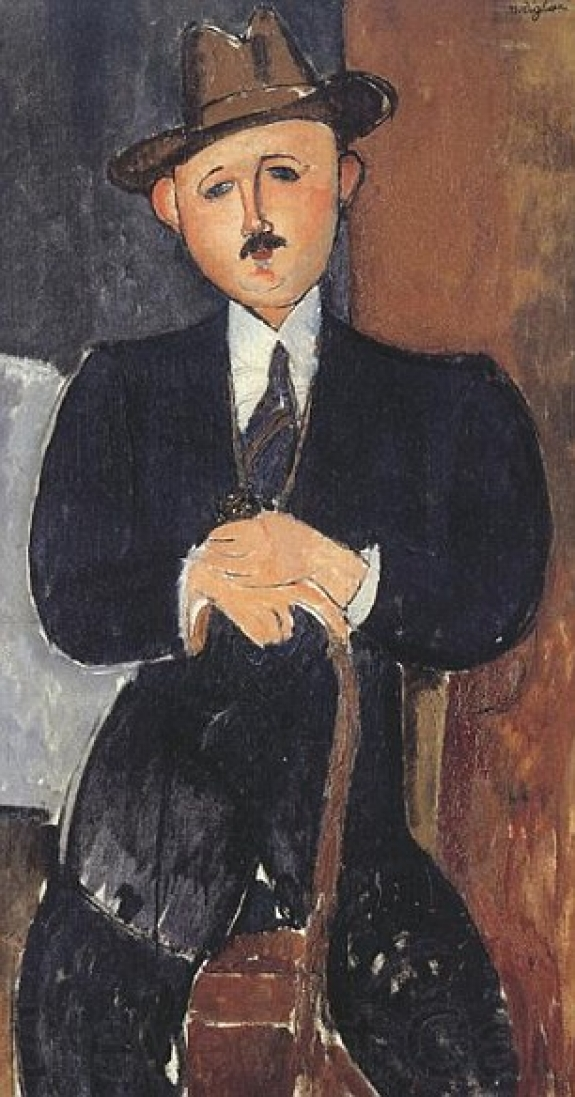 Amedeo Modigliani's 'Man Seated with a Cane.'