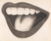 Tom Wesselmann, Drawing for Mouth #3 1963, charcoal on paper, 48 x 63 1/2 inches