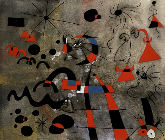 Detail from The Escape Ladder (1940), by Joan Miró.