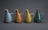 Russel Wright (1904–76), Four American Modern pitchers, designed 1937. Glazed earthenware, each: 10¾ x 8⅛ x 6½ (27.3 x 20.6 x 16.5 cm). Produced by Steubenville Pottery Company, Steubenville, Ohio K2008.107.