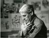 Willem de Kooning in his studio.