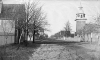 Harmonist church (now St. John's Lutheran Church, Ambridge) and street, Economy, Pennsylvania. Old Economy Village Archives. Courtesy, Old Economy Village Collection. Harmonist houses were oriented away from the street and towards their gardens.