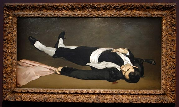 'L'Homme mort, 1864-65' (Dead Man) by French painter Edouard Manet (1832-1883)