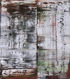 """Abstraktes Bild"" by Gerhard Richter sold for 7.2 million pounds in London. It was estimated at 5 million pounds to 7 million pounds in Sotheby's Feb. 15 auction of contemporary art. The oil on canvas measures 7 feet high."