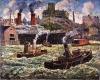 Ernest Lawson (American, 1873–1939) Hoboken Water Front, about 1930, Oil on canvas, 40 x 50 in., Frame: 48 x 58-1/2 x 2-1/2 in., Gift of R. H. Norton, 46.12