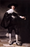 Rembrandt's portrait of Marten Soolmans.