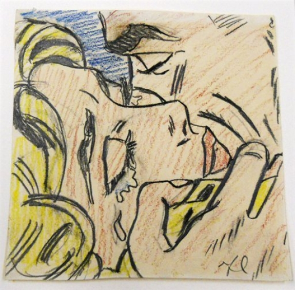 """Drawing for Kiss V"" by Roy Lichtenstein has en estimate range of $800,000 to $1.2 million. It will be offered for sale at Christies's in New York on May 11."