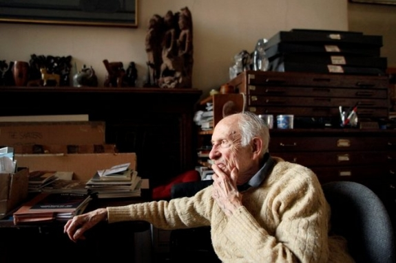 Will Barnet relaxes at his table in his studio. He still paints daily for three to four hours. At 99 and still painting, New York artist Will Barnet is a national treasure having influenced generations of artists.