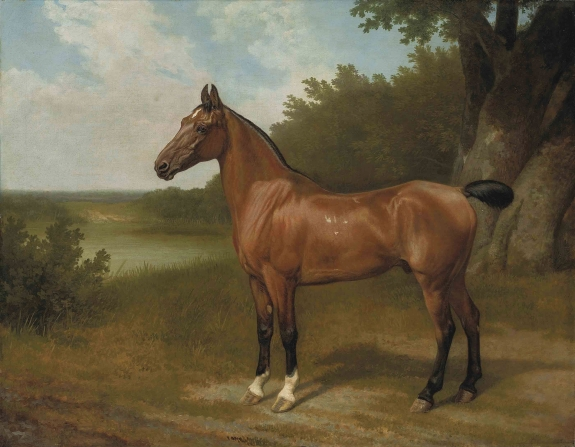 A painting by Jacques-Laurent Agasse.