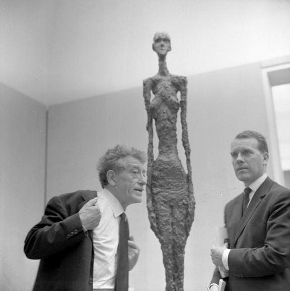 Alberto Giacometti (left).