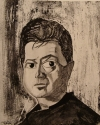 A portrait of Francis Bacon by Reginald Gray.