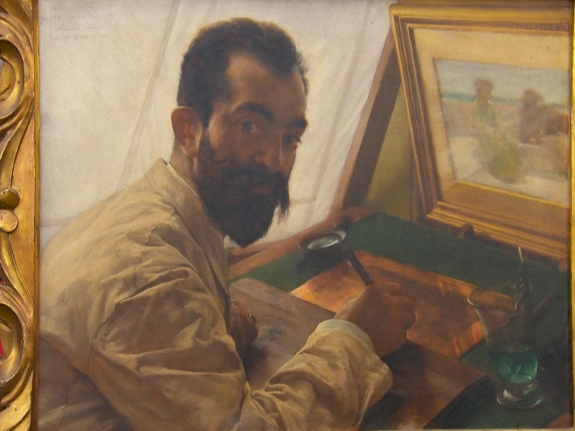 Portrait of Leopold Löwenstam by Lawrence Alma-Tadema, 1883