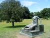 Henry Moore's 'Draped Seated Woman.'
