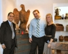 Show promoter Frank Gaglio, left, with Ralph and Gretchen Franzese of R.G.L. Antiques.