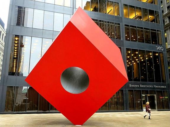 Isamu Noguchi's 'Cube.'