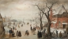 """Winter Landscape near a Village,"" ca. 1610-15, by Hendrick Avercamp Oil on panel The Rose-Marie and Eijk van Otterloo Collection"