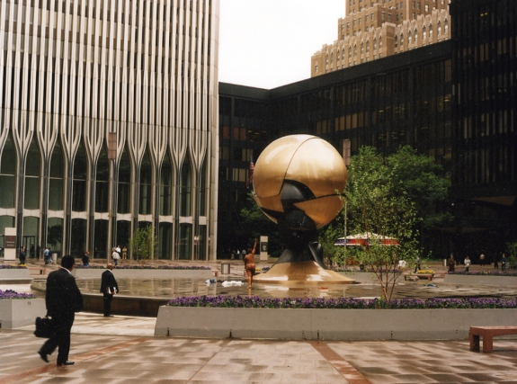 Fritz Koenig's 'Sphere for Plaza Fountain.'