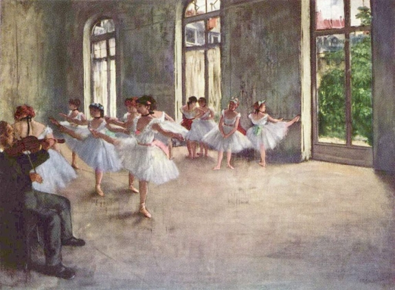 A painting of dancers by Edgar Degas.