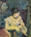 A portrait of Paul Gauguin's wife, Mette.