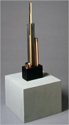 """John Storrs: Machine-Age Modernist at Grey Art Gallery includes his """"Study in Pure Form (Forms in Space No. 4)."""""""