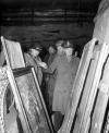 President Eisenhower inspecting looted art.
