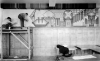 Artists working on a WPA mural.