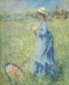 Femme cueillant des Fleurs by Pierre-Auguste Renoir, c1874, oil on canvas, 65.5 x 54.4 cm