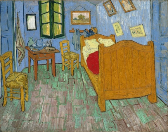 'The Bedroom' by Vincent van Gogh, 1889.