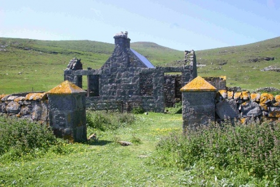 Ruins in the Western Isles of Scotland.