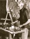 Clyfford Still in his studio, 1973?