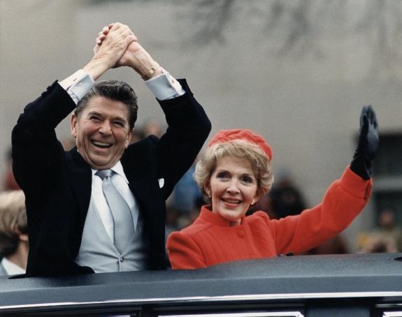 Ronald and Nancy Reagan.
