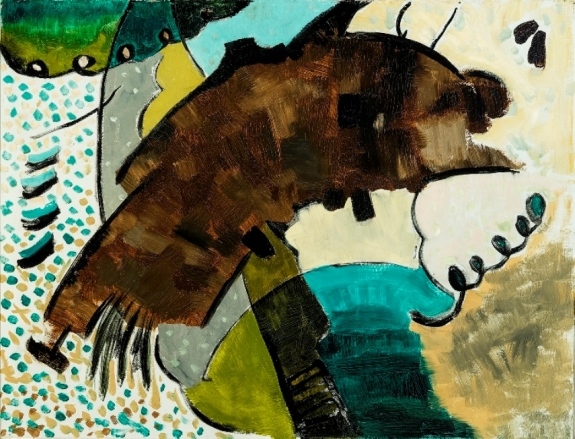 Arthur Dove (1880-1946) Yours Truly, 1927. Oil on canvas, 16 1/2 x 21 1/2 inches. Courtesy of Hirschl & Adler Modern.