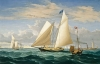 Fitz Henry Lane's Yacht America from Three Views: Vessel Portrait or Artists's Concept