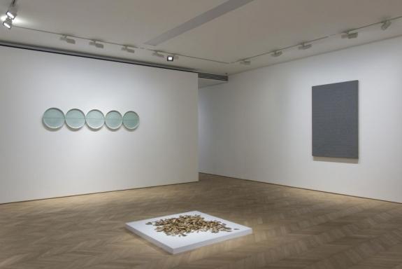 Zhang Huan, Mark No. 3, 2014. Ash on linen. 153 cm x 100.3 cm. 61199