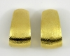 18K micro-hammer finish earrings by David Webb. Offered by Benchmark of Palm Beach.
