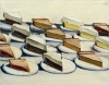 """""""Pies,"""" a 1961 painting by Wayne Thiebaud, is part of the second of two auctions of works from the estate of Allan Stone."""